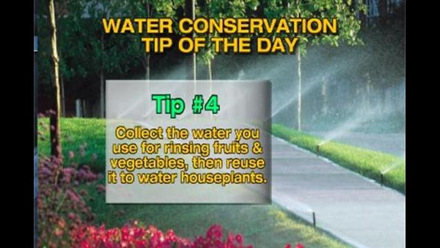 Water Conservation Tip of The Day