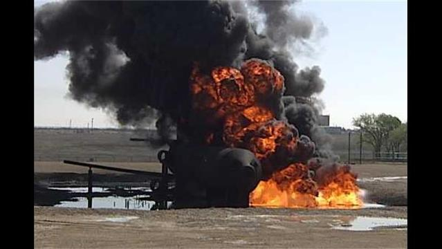 Firefighters Train To Put Out Airplane Fires At Lubbock International Airport