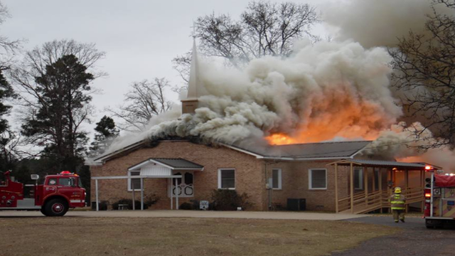 East Texas Church Destroyed in Weekend Fire