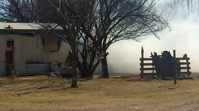 Trailer Fire Friday Afternoon in South Lubbock