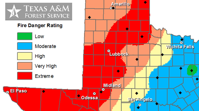 Extreme Fire Danger for Lubbock and Much of West Texas