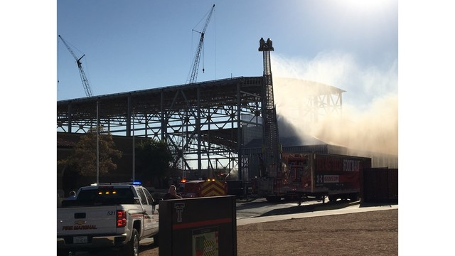 Video of Texas Tech Sports Performance Center Construction Site Fire