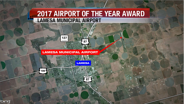 Lamesa Municipal Airport Awarded as 2017 Airport of the Year by TxDOT