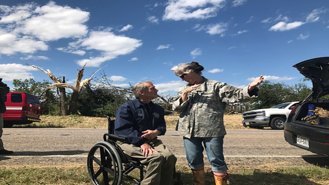 Governor Abbott Visits Canton Area Following Severe Weather