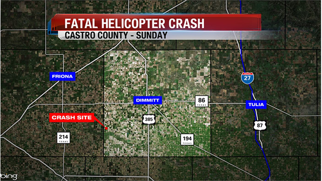 Amarillo Man Dies in Sunday Morning Helicopter Crash in Castro County
