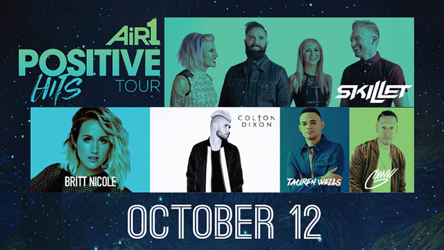 Air1 Positive Hits Tour Coming to Lubbock's United Supermarkets Arena on October 12