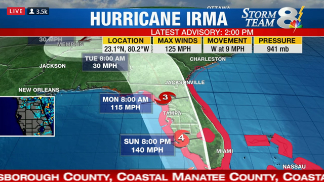 Watch Live Hurricane Coverage from WFLA in Tampa