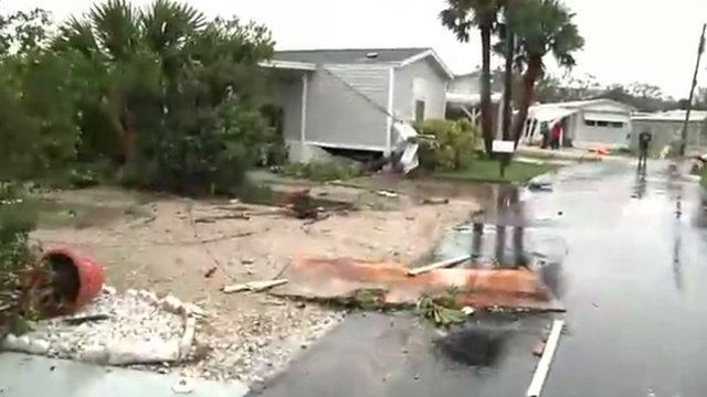 Possible Tornado Spawned by Hurricane Destroys Florida Homes