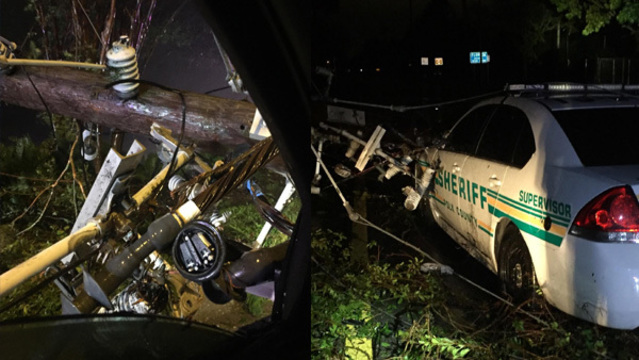 Deputy, Paramedic Rescued in Florida After Live Power Pole Falls on Car