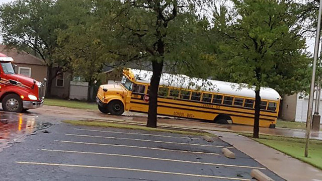 Bus Falls Into Sinkhole, Street Collapsed in Central Lubbock