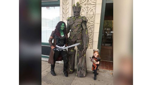 Dad builds 7-foot Groot costume to impress 'Guardians of the Galaxy'-obsessed daughter