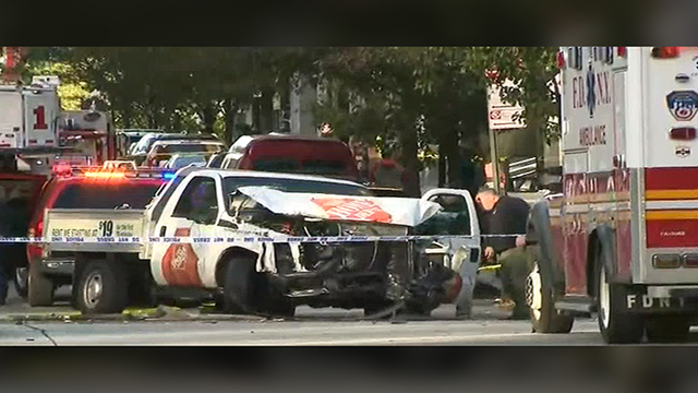 8 Dead After Truck Plows Into People in New York City in 'Cowardly Act of Terror': Mayor