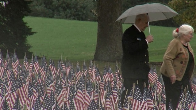 Flag Display in Honor of Military Lives Lost Since 9/11