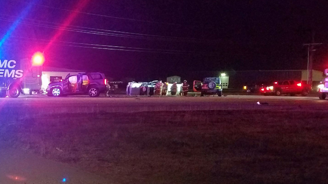 Five-Vehicle Crash, Rollover Reported in Northwest Lubbock