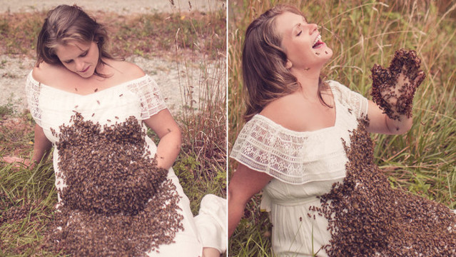 Woman who had maternity photoshoot with bees suffers pregnancy loss