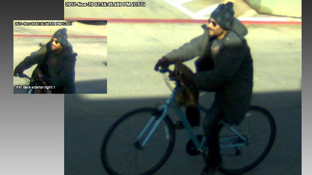 More Images Released of Bicycle Bank Bandit in Central Lubbock