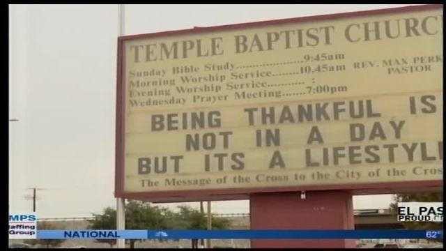 Las Cruces Church Sign at Center of Social Media Controversy