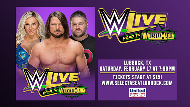 The WWE Live Road to Wrestlemania Comes to Lubbock