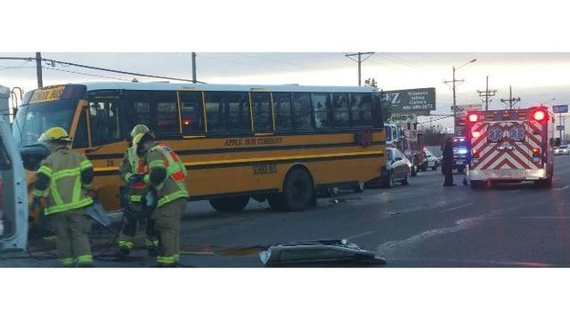 Driver Dies After Morning Wreck Involving Amarillo ISD School Bus