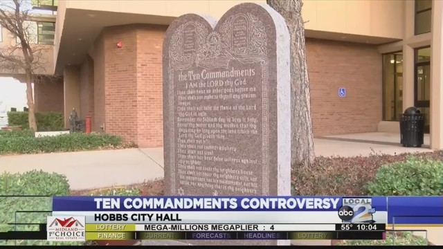 Group fights to remove Ten Commandments from Hobbs City Hall