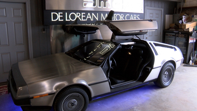 the delorean makes an appearance in lubbock on back to the future day