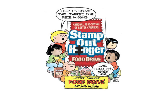 national association of letter carriers to deliver food donated for stamp out hunger food drive