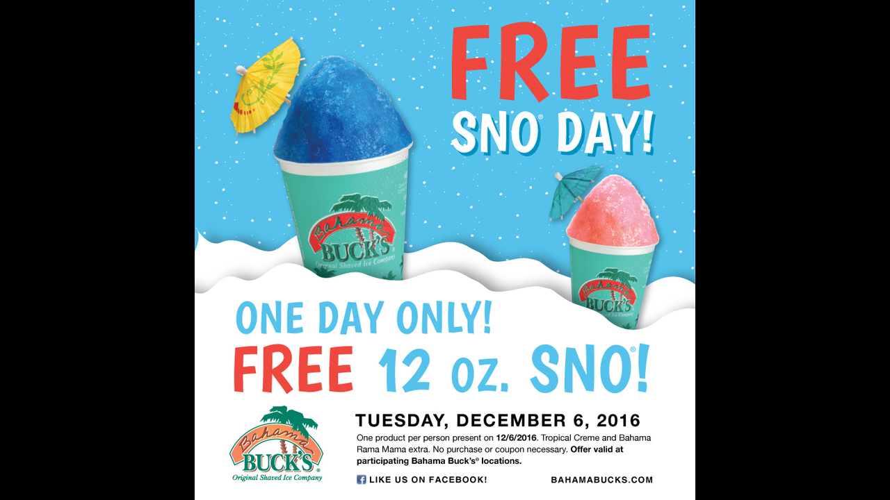 Bahama Bucks Marks The First Tuesday Of December As The Coolest Day