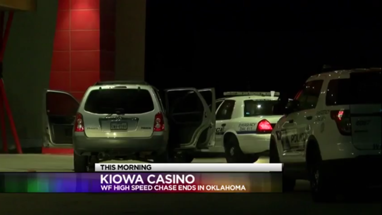 Wichita Falls Police High Speed Chase Ends at Oklahoma Casino Early