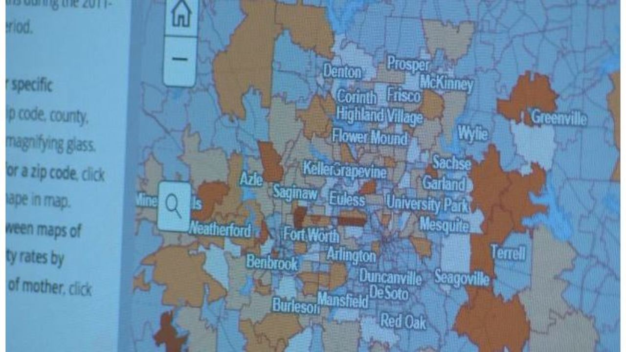 Flower Mound Zip Code Map.New Mapping Tool Shows Infant Death Rates Vary Greatly Within Cities