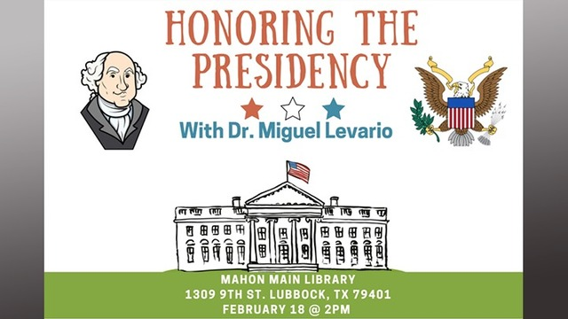 TTU History Professor, Congressional Candidate to Host President's Day Event Sunday