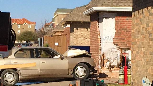 Car Smashed Into House in North Overton Neighborhood