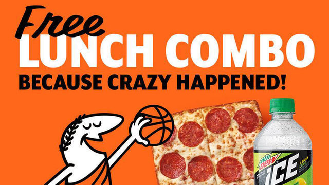 When will Little Caesars treat NCAA March Madness fans to lunch?