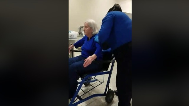 Video of TSA agents searching 96-year-old woman in wheelchair sparks outrage