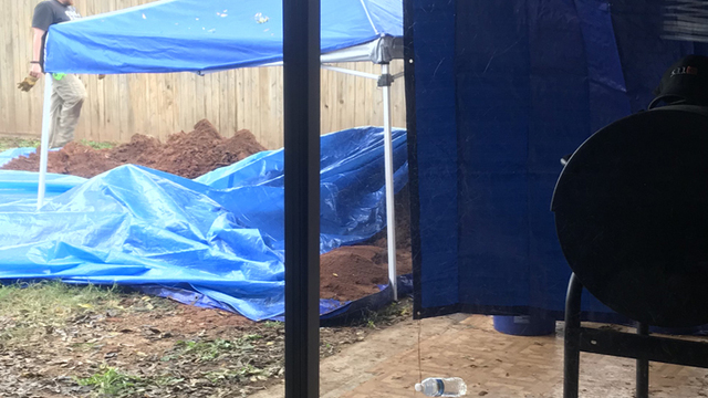 Woman says bones found in her yard are part of 2013 missing person investigation