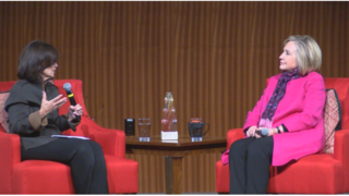 Hillary Clinton receives award for public service at LBJ School