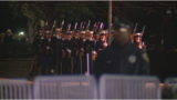 Approx. 5,000 people arrive for Bush's public repose