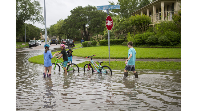 Houston streets fill up with water; kids stranded at schools