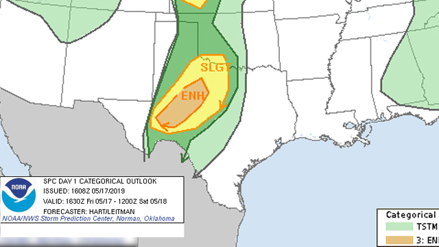 Storm risk higher east of Lubbock Friday afternoon and evening