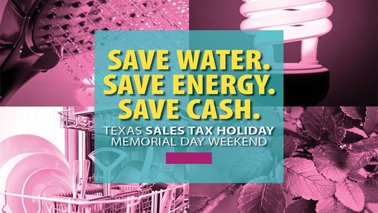 Sales tax holidays for ENERGY STAR and water-efficient products in Texas